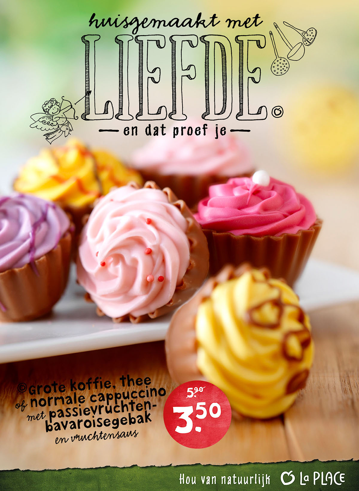 Food photography of La Place's choco cupcakes made by Studio_m Photography Amsterdam