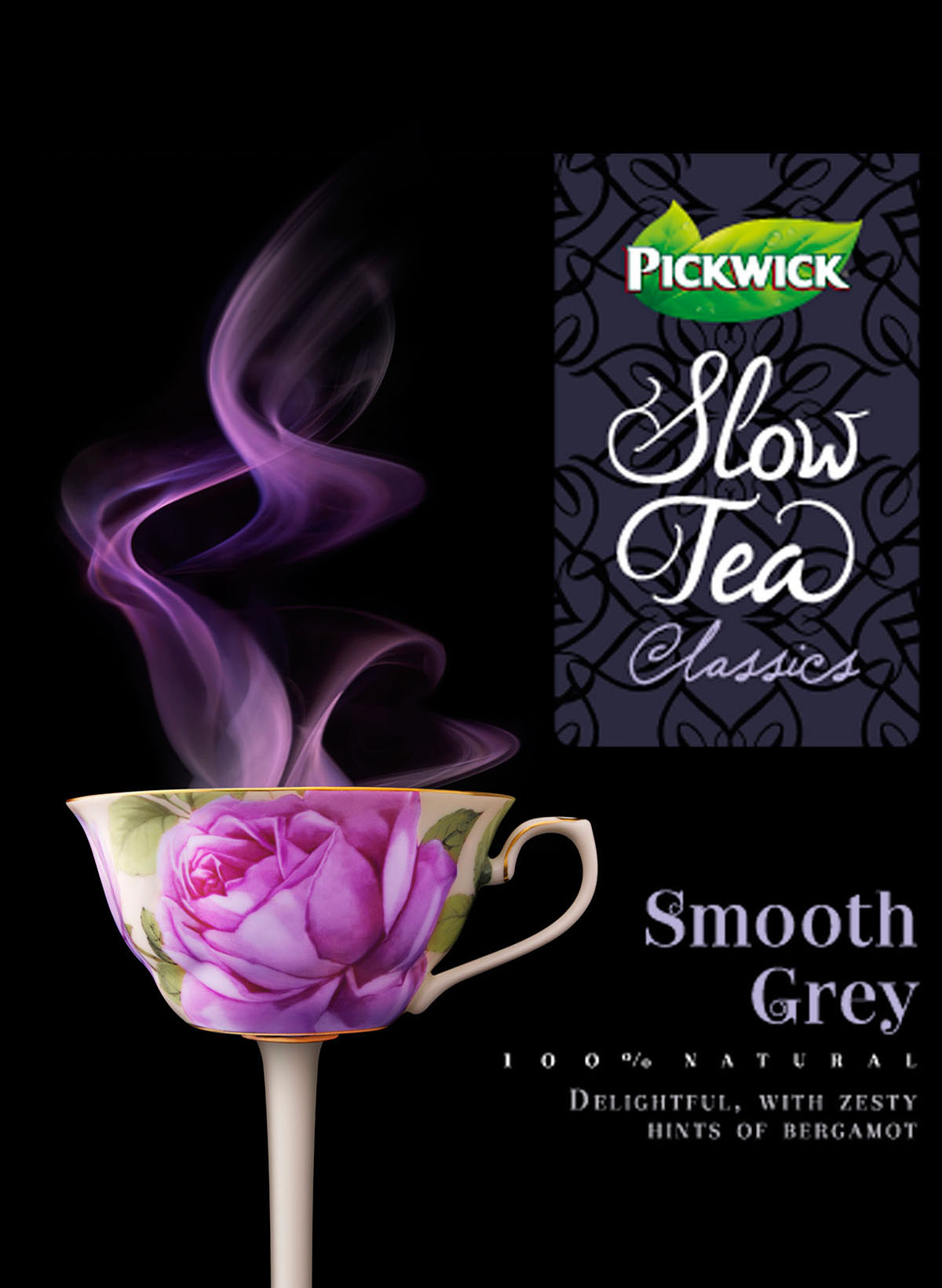Packaging fotografie van Pickwick Slow Tea's Smooth Grey gemaakt door Studio_m Fotografie Amsterdam