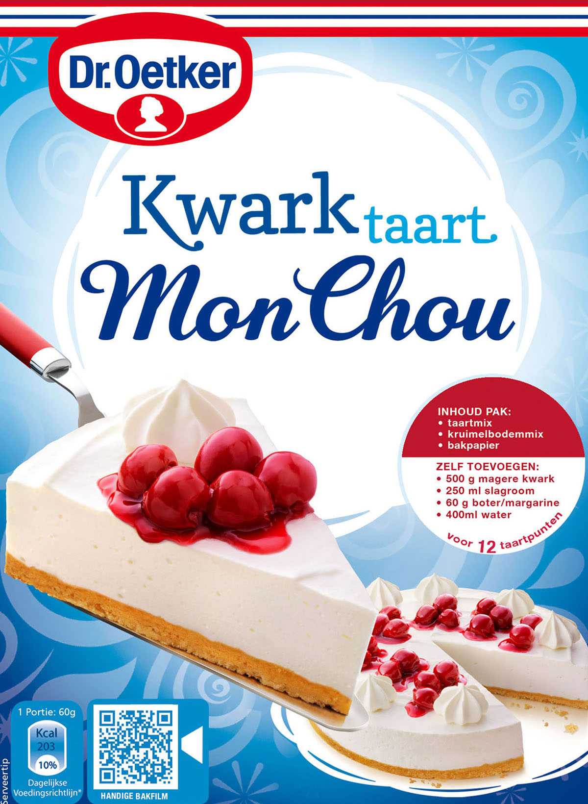 Packaging photography of Dr.Oetker's MonChou made by Studio_m Photography Amsterdam