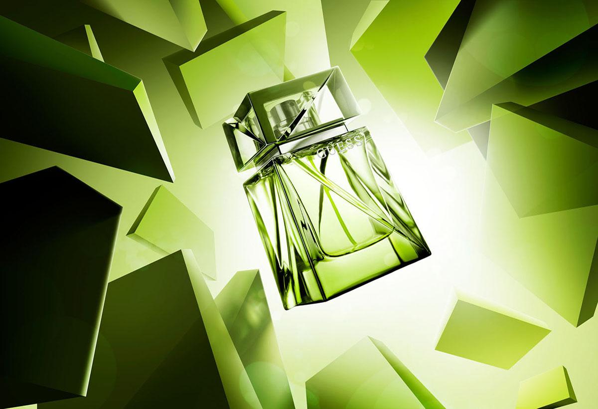 Product styling fotografie van Guess parfum gemaakt door Studio_m Fotografie Amsterdam