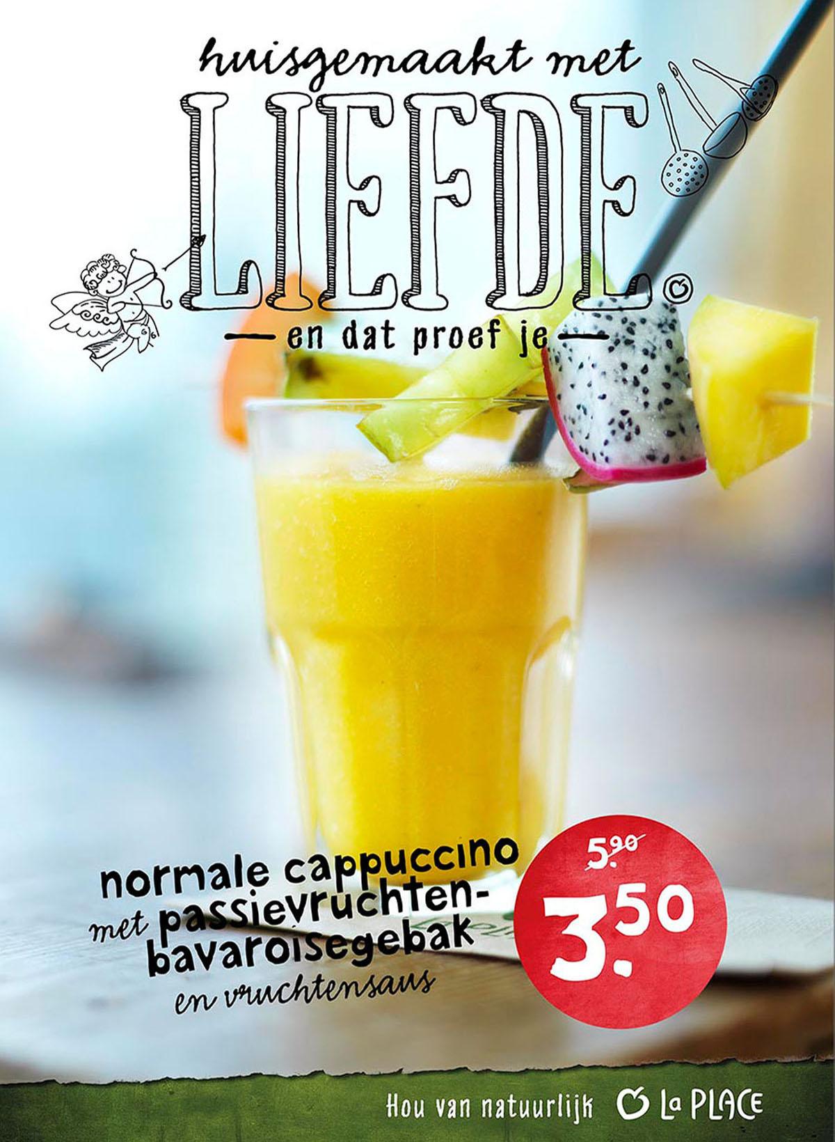 Drank fotografie van smoothie drink van La Place gemaakt door Studio_m Fotografie Amsterdam