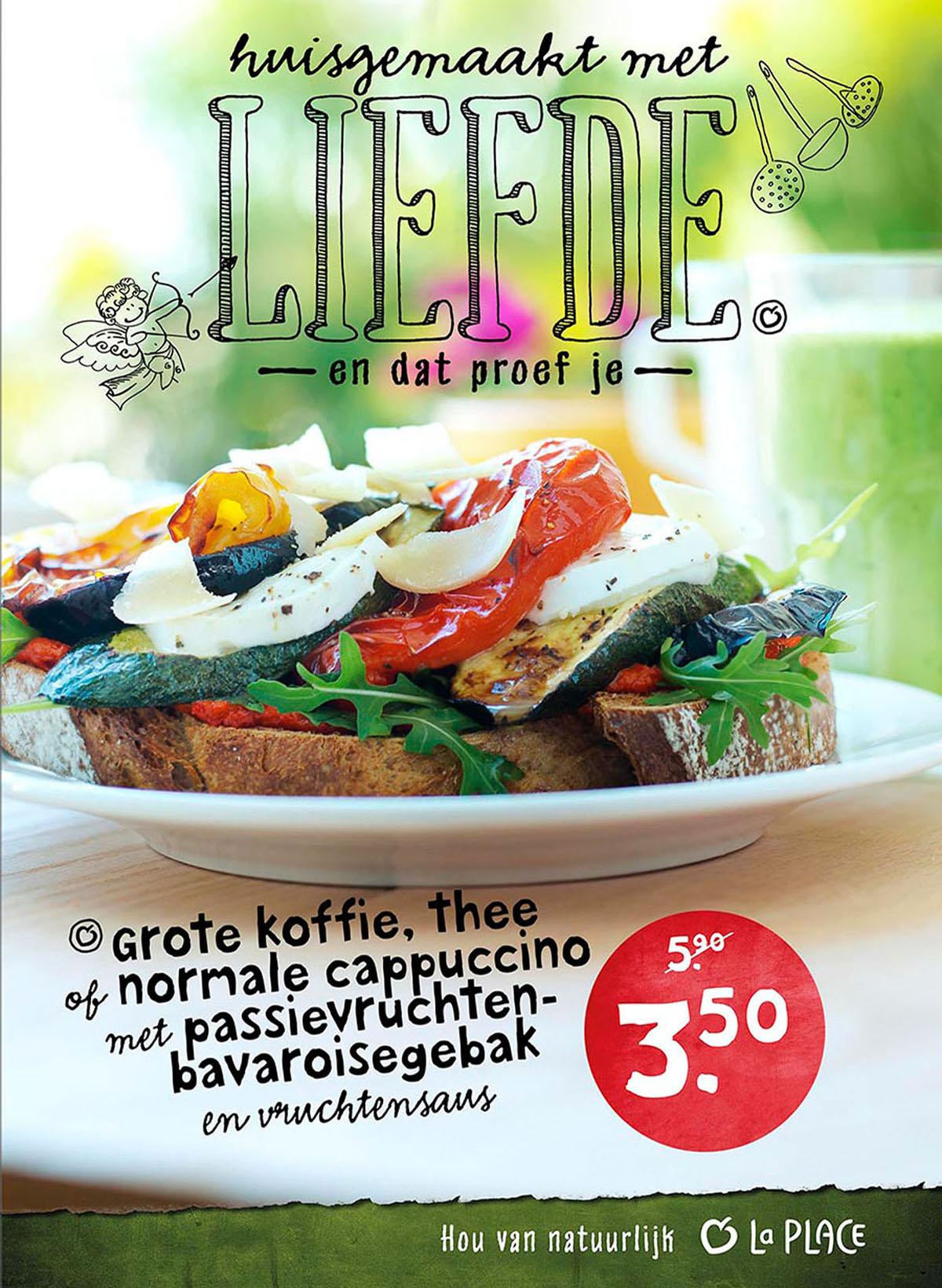 Food fotografie van een Bruscietta Sandwich uit La Place gemaakt door Studio_m Fotografie Amsterdam