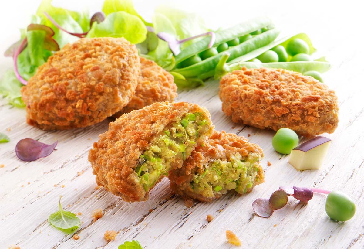 Food styling fotografie van vegan nuggets gemaakt door Studio_m Fotografie Amsterdam