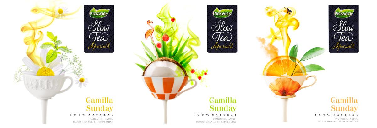 Packaging fotografie van Pickwick Slow Tea's Camilla Sunday gemaakt door Studio_m Fotografie Amsterdam