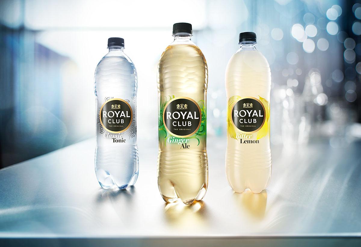 Drank fotografie van Royal Club's drie verschillende smaken gemaakt door Studio_m Fotografie Amsterdam