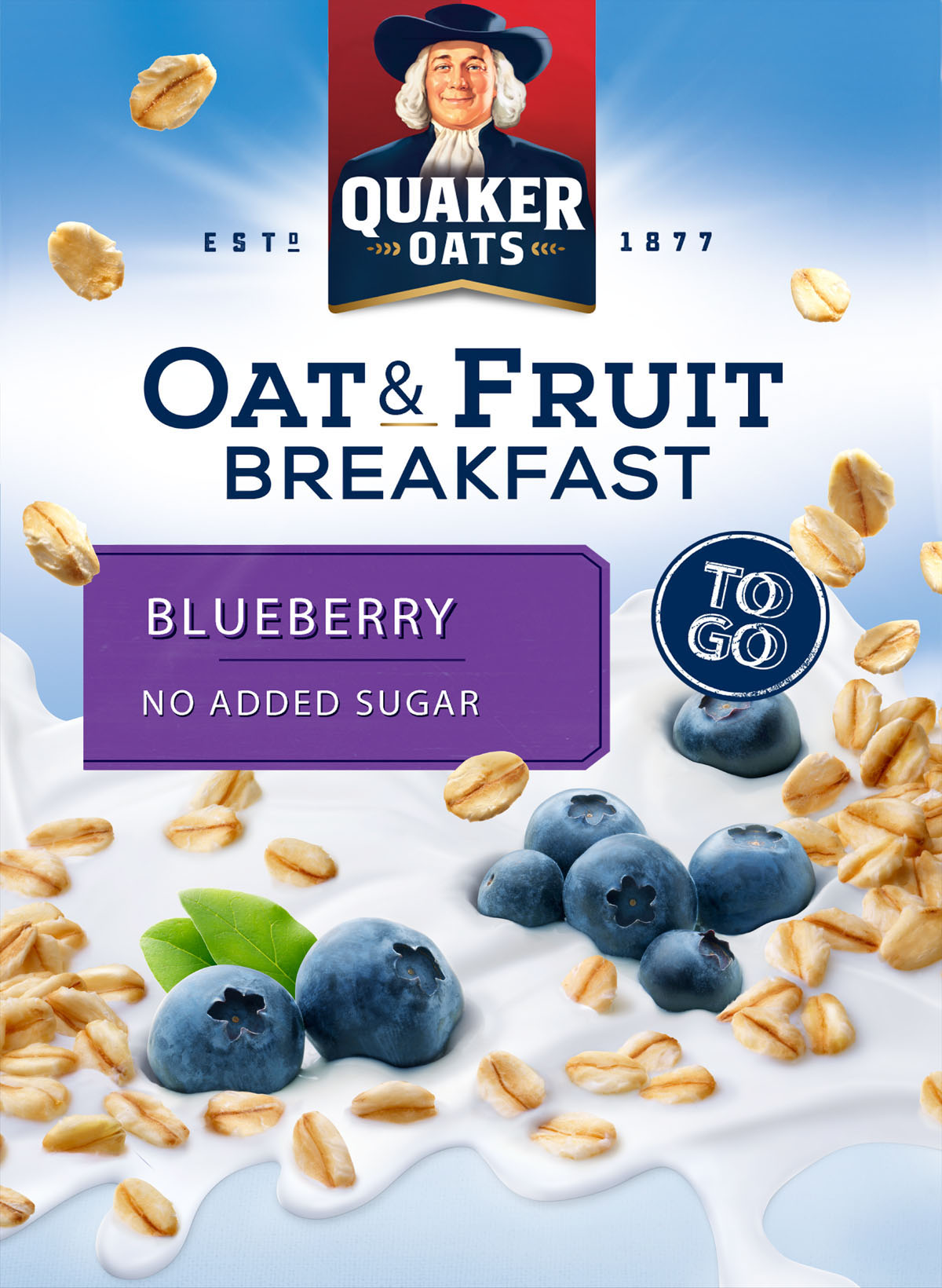 Packaging photography of Quaker Oats blueberry breakfast cereal made by Studio_m Photography Amsterdam