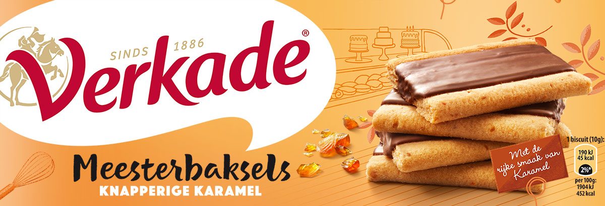 Packaging photography of Verkade's caramel cookies made by Studio_m Photography Amsterdam