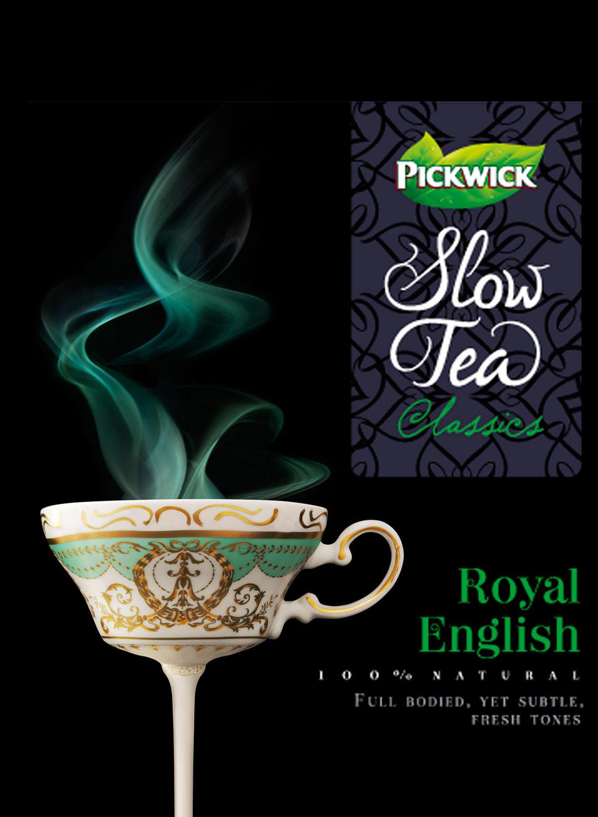Packaging fotografie van Pickwick Slow Tea's Royal English gemaakt door Studio_m Fotografie Amsterdam