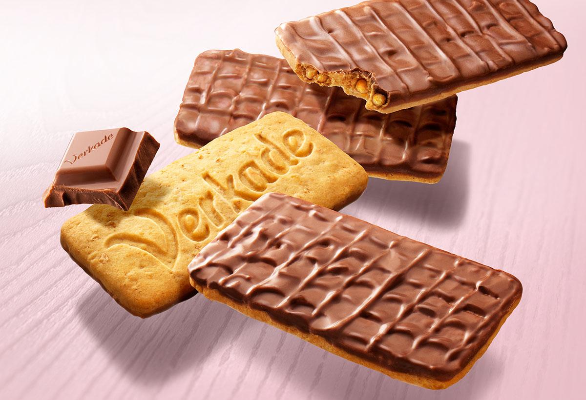 Food fotografie van Verkade's chocolade koekjes gemaakt door Studio_m Fotografie Amsterdam