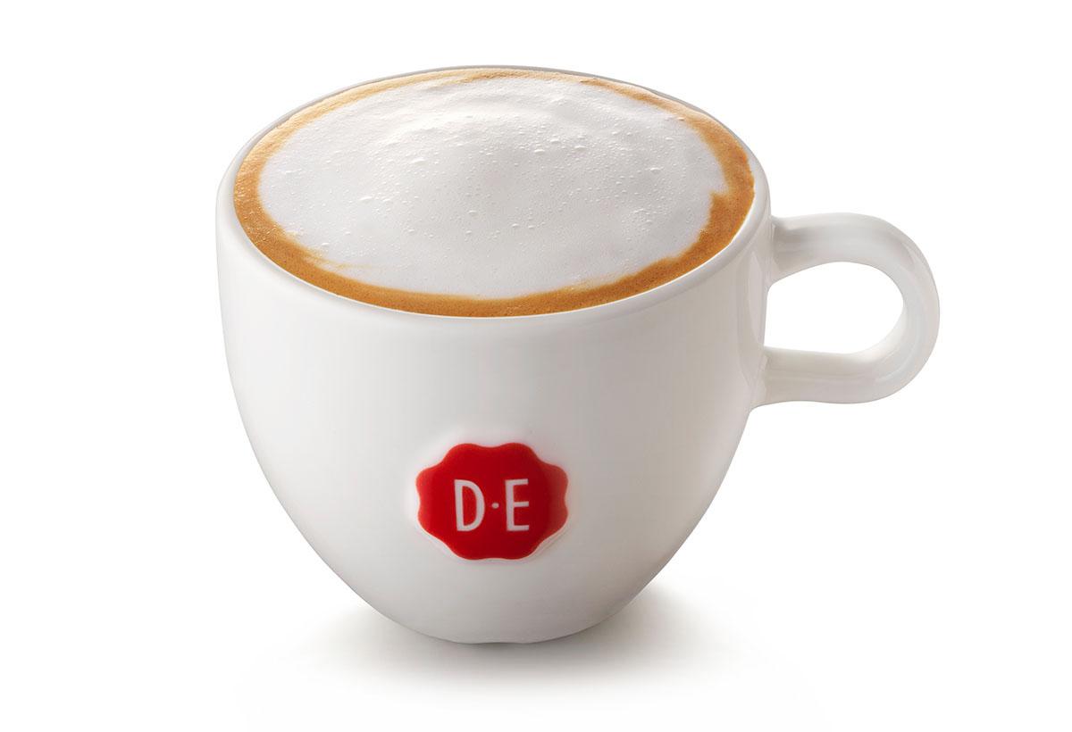 Packshots fotografie van DE's kopje koffie met melkschuim gemaakt door Studio_m Fotografie Amsterdam