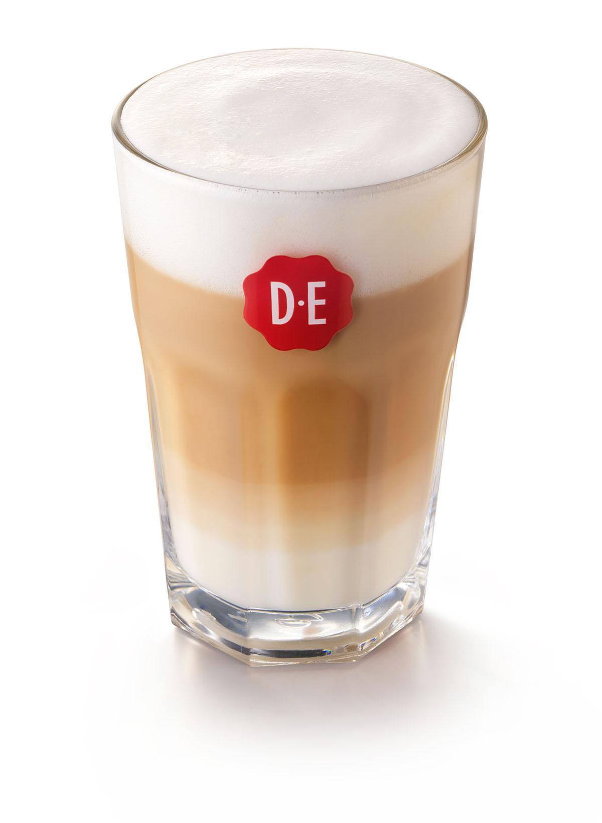 Packshots fotografie van DE's latte koffie met melkschuim gemaakt door Studio_m Fotografie Amsterdam
