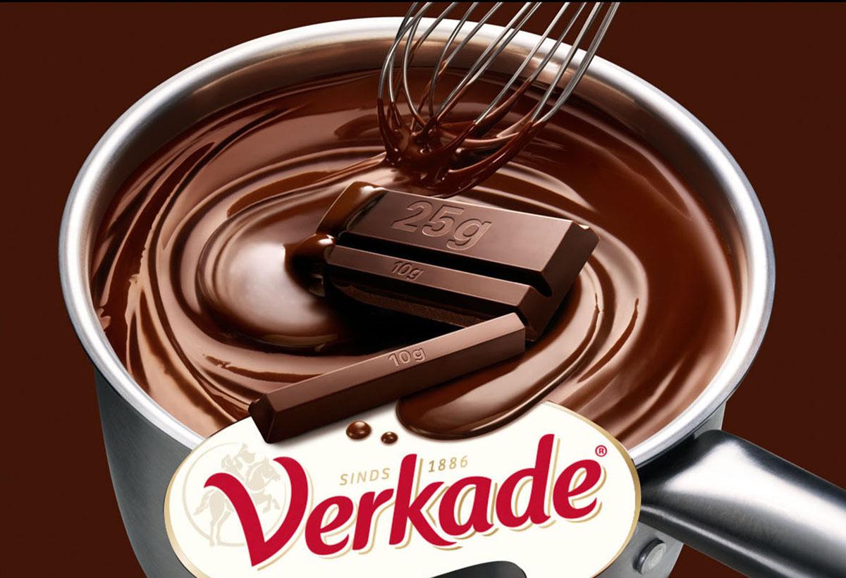 Packaging fotografie van Verkade's kookchocolade gemaakt door Studio_m Fotografie Amsterdam