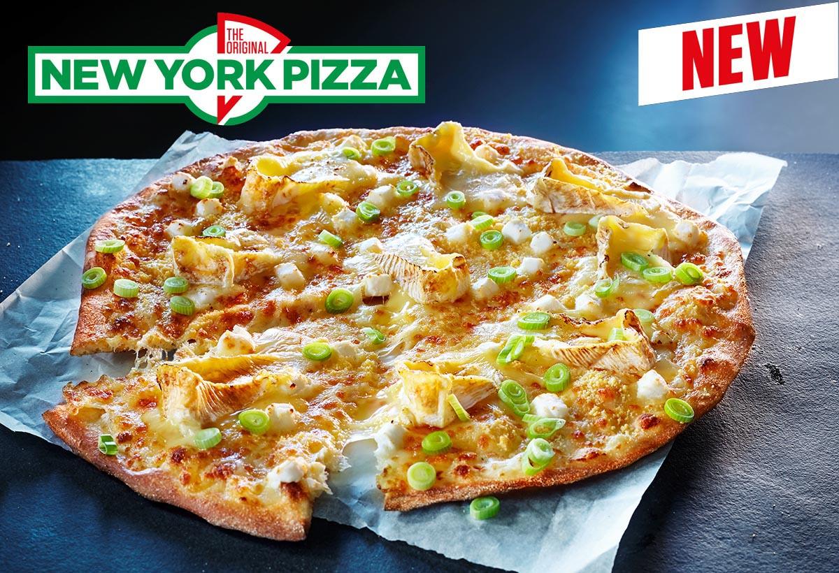 Food fotografie van cheese pizza van New York Pizza gemaakt door Studio_m Fotografie Amsterdam