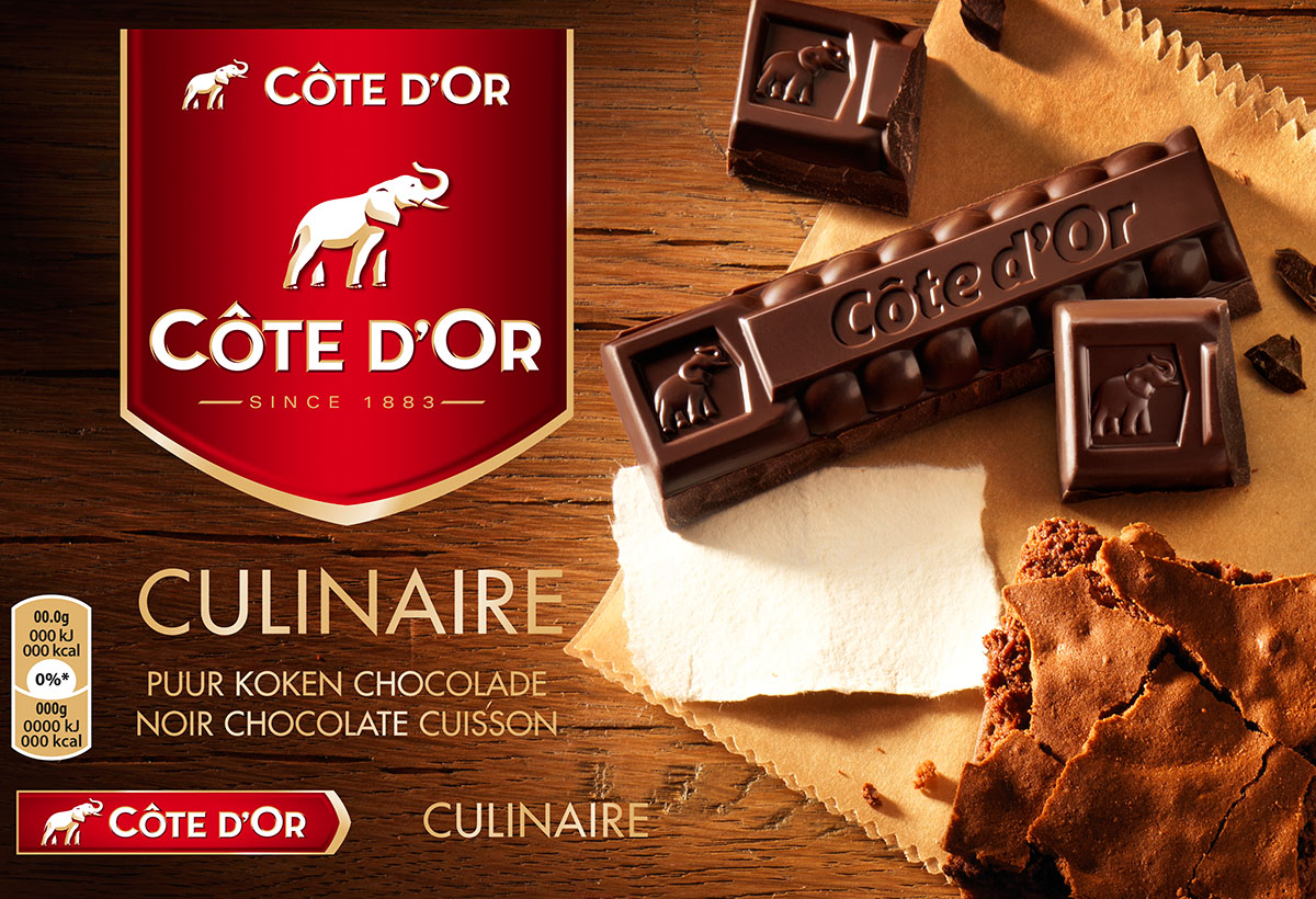 Packaging photography of Cote d'or's culinaire chocolate made by Studio_m Photography Amsterdam