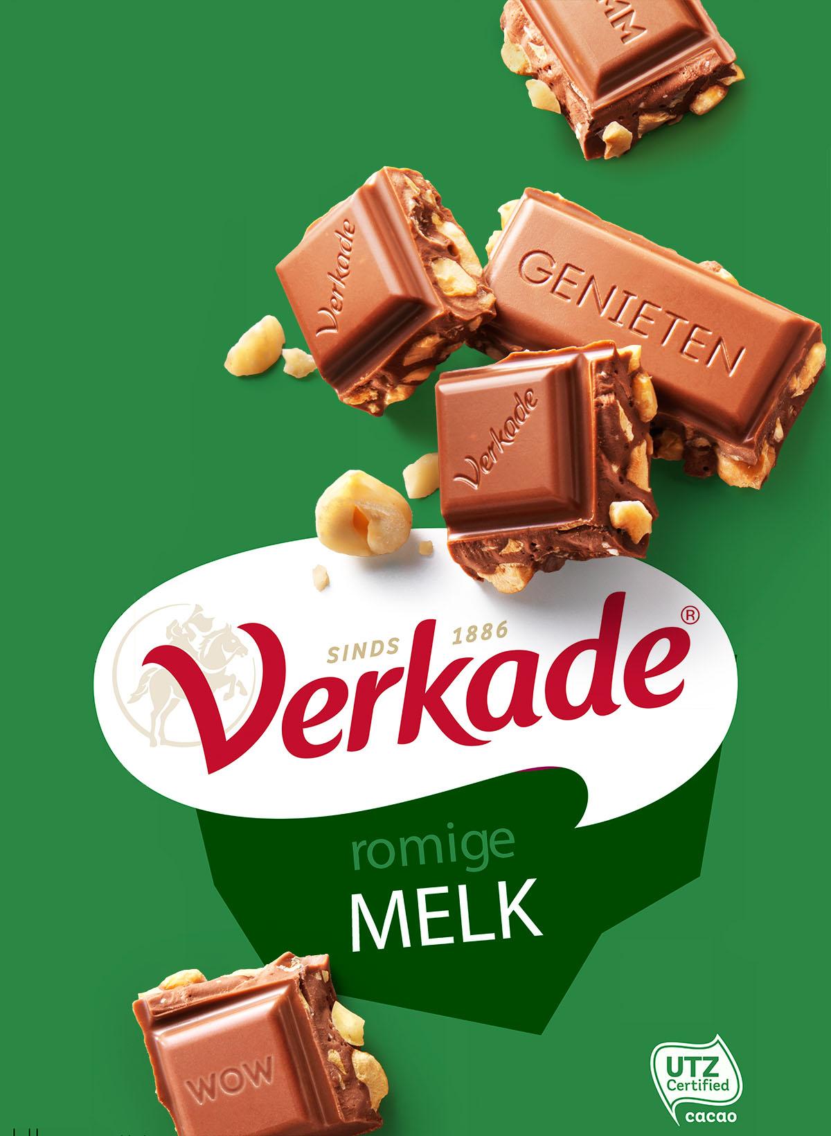 Packaging fotografie van Verkade's hazelnoot chocola gemaakt door Studio_m Fotografie Amsterdam