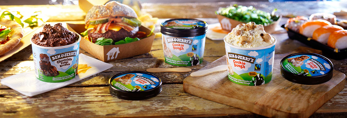 Food photography of Ben & Jerry's chocolate and cookie ice cream made by Studio_m Photography Amsterdam