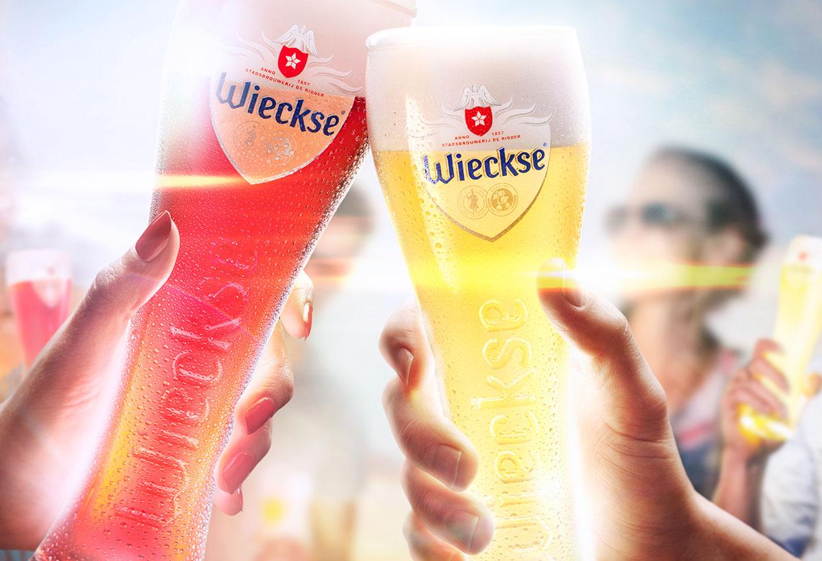 Drank fotografie van Wieckse's twee glazen witte bier gemaakt door Studio_m Fotografie Amsterdam