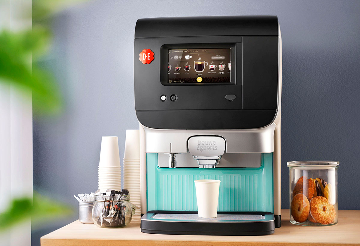 Product stylist photography of DE's coffeemachine made by Studio_m Photography Amsterdam