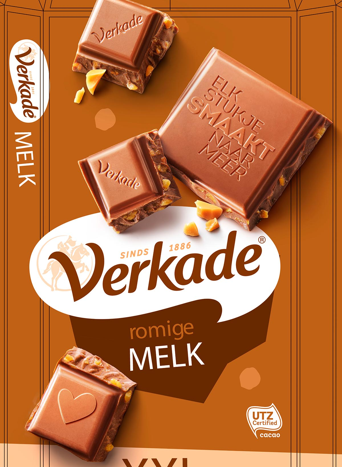 Packaging photography of Verkade's caramel chocolate made by Studio_m Photography Amsterdam