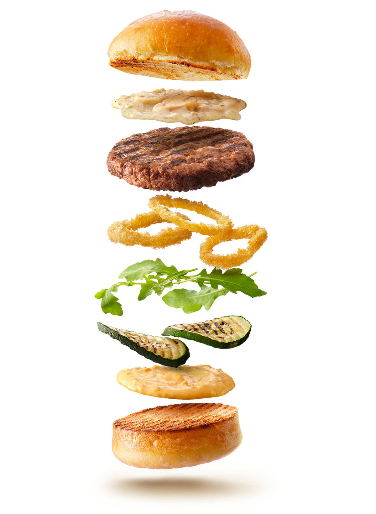 Packshots photography of La Place's hamburger made by Studio_m Photography Amsterdam