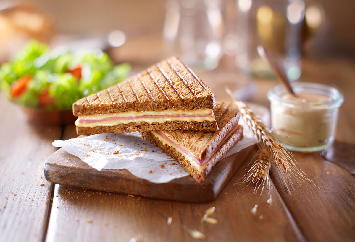 Food styling photography of Top King's ham cheese tosti's made by Studio_m Photography Amsterdam