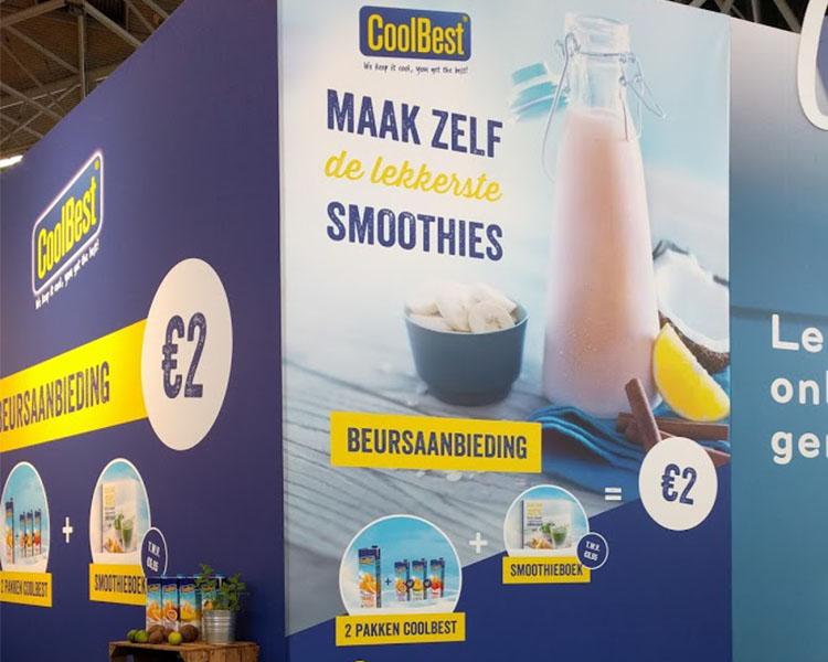 Food fotografie van media campaign's CoolBest poster met aanbieding gemaakt door Studio_m Fotograaf Amsterdam