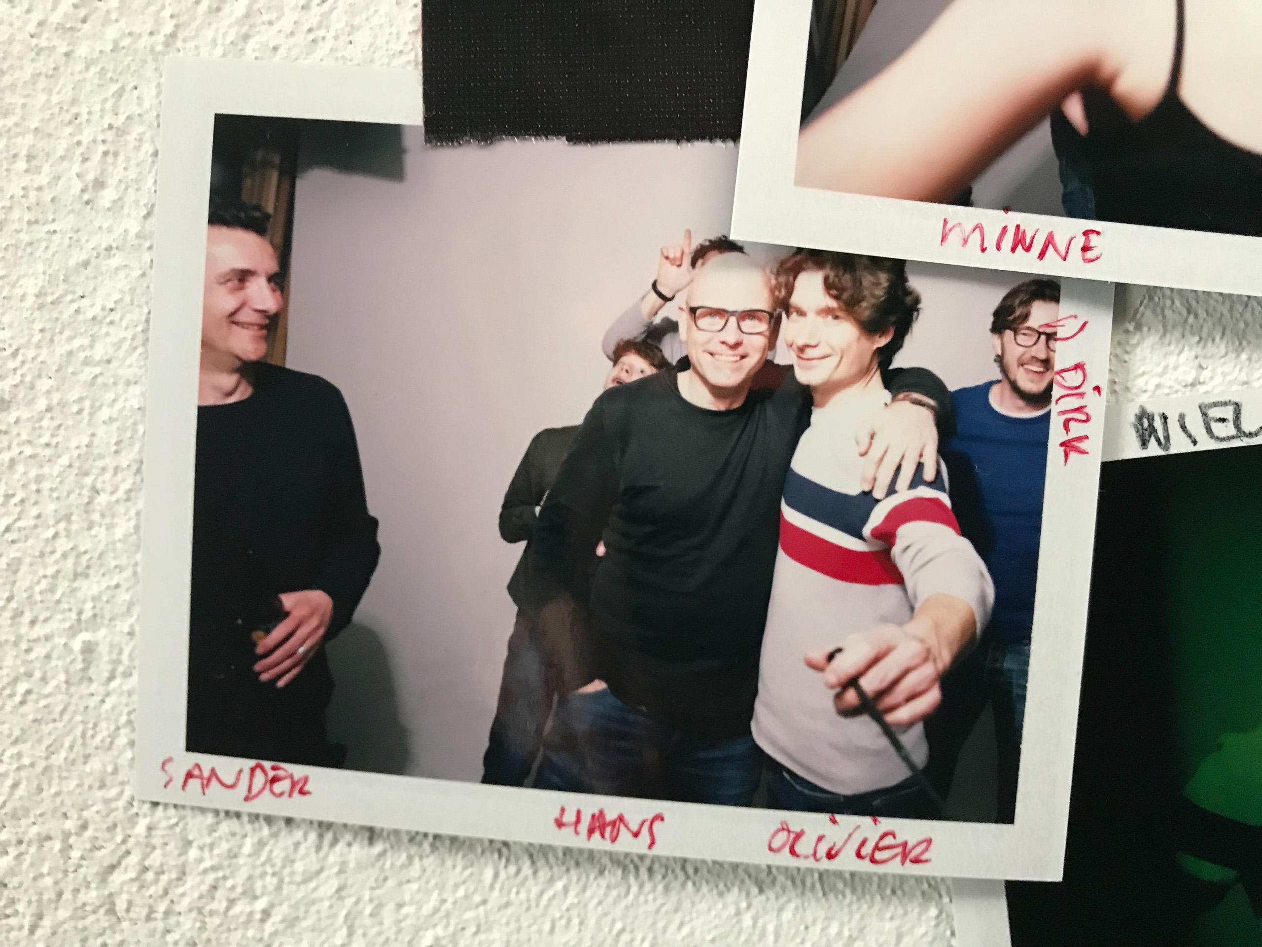 Food stylist fotografie van een groepsfoto inclusief Sander, Hans en Olivier gemaakt door Studio_m Fotograaf Amsterdam