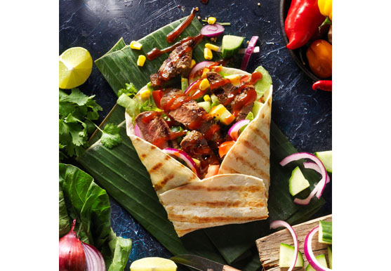 Food photography of burrito with beef made by Studio_m Photography Amsterdam