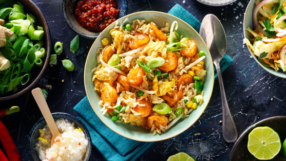 Food photography of fried rice with shrimp made by Studio_m Photography Amsterdam