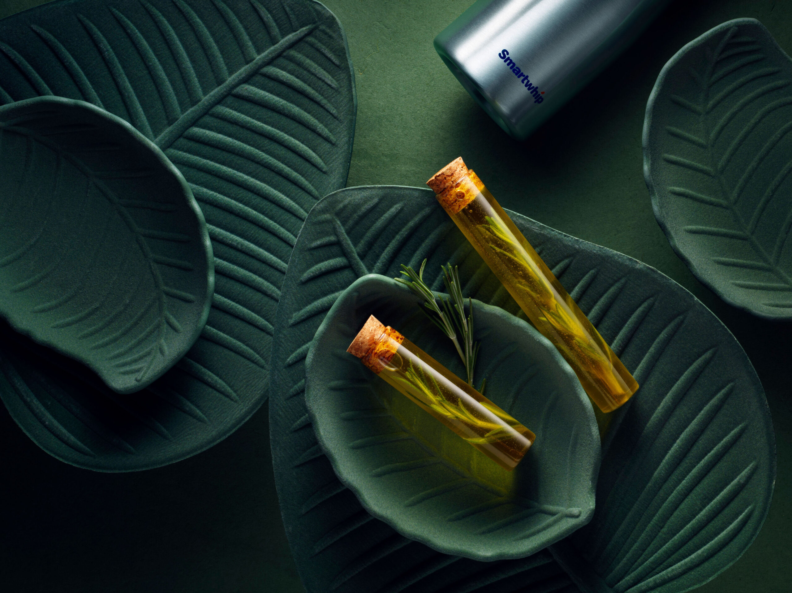 Creative food photo of SmartWhip recipe Rosemary Oil made by STUDIO_M Amsterdam