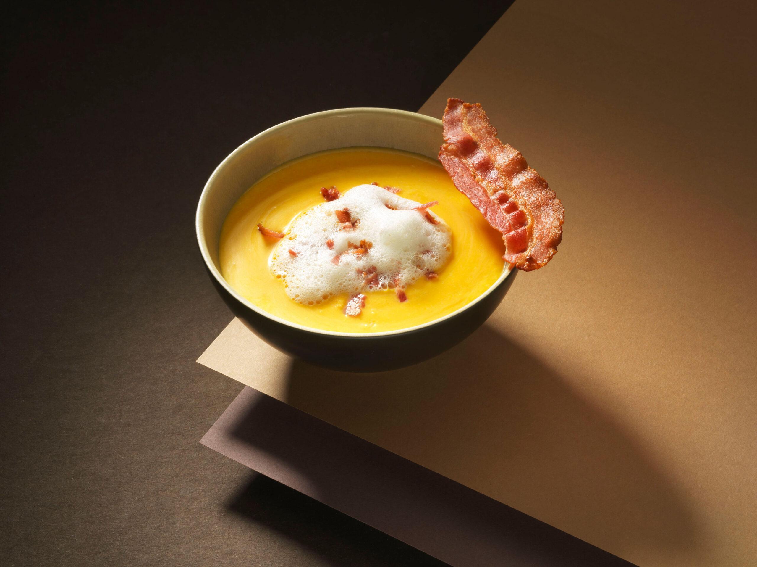 Creative food photo of SmartWhip recipe Corn soup made by STUDIO_M Amsterdam