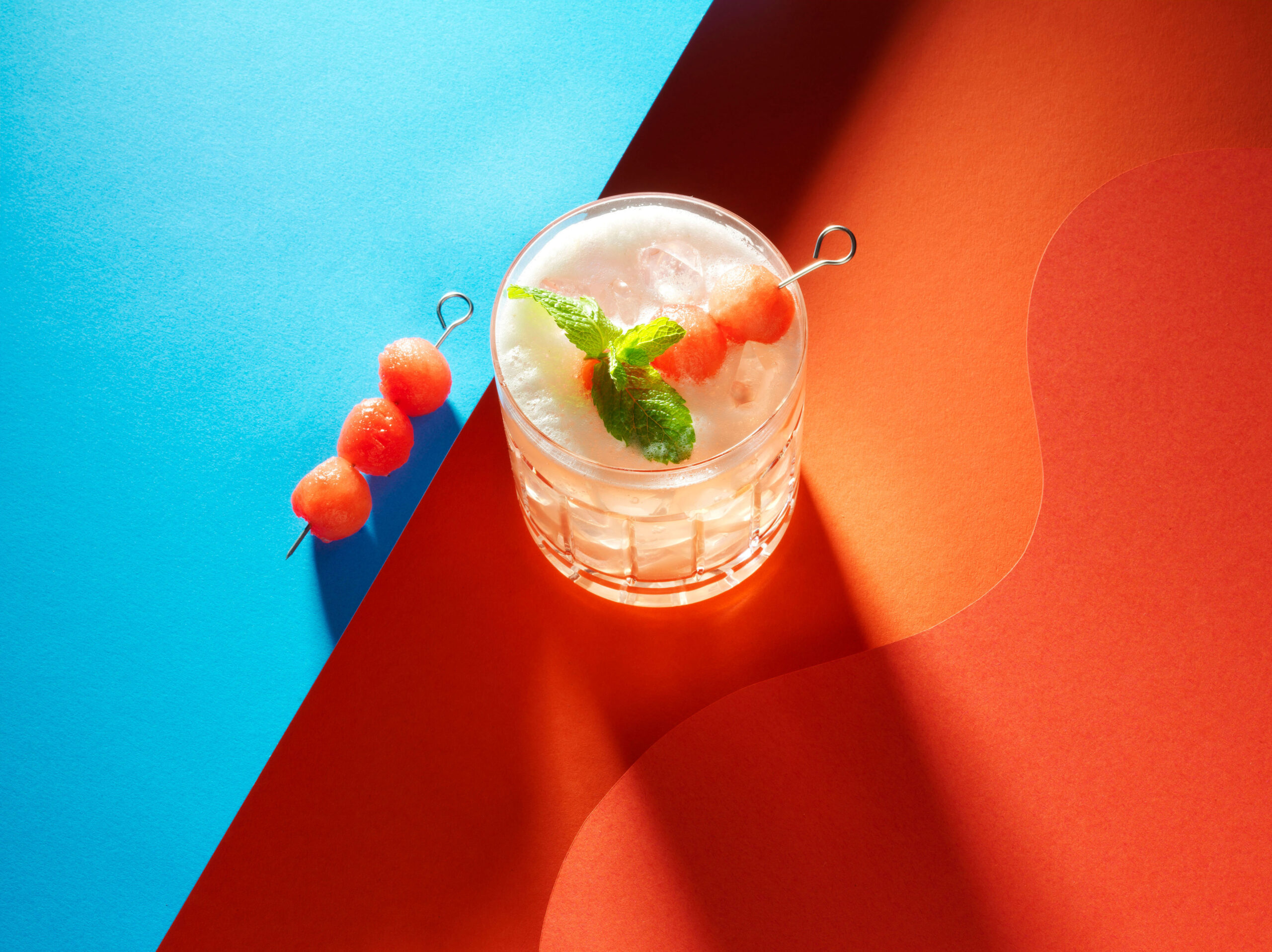 Creative food photo of SmartWhip recipe watermelon cocktail made by STUDIO_M Amsterdam
